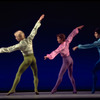 """New York City Ballet production of """"Scherzo Fantastique"""" with Bryan Pitts, Victor Castelli and Steven Caras, choreography by Jerome Robbins (New York)"""