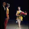 """New York City Ballet production of """"Scherzo Fantastique"""" with Gelsey Kirkland and Bart Cook taking a bow, choreography by Jerome Robbins (New York)"""