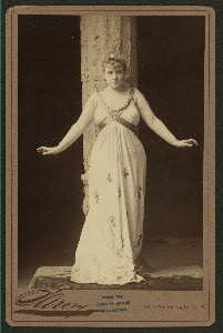 Lillian Russell in Apollo / cabinet photographs by Sarony.