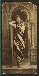 Lillian Russell in The snake charmer cabinet photographs