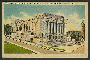 Theatres:  U.S.:  Worcester (MA):  War Memorial Auditorium