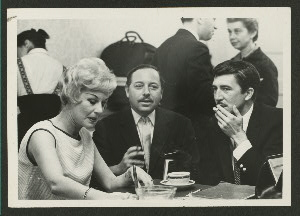 Margaret Leighton, Tennessee Williams, and Patrick O'Neal during production of Night of the Iguana, ca. 1961.