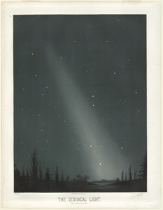 The zodical light. Observed February 20, 1876.