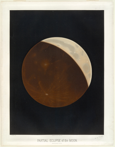 Partial eclipse of the moon. Observed October 24, 1874.