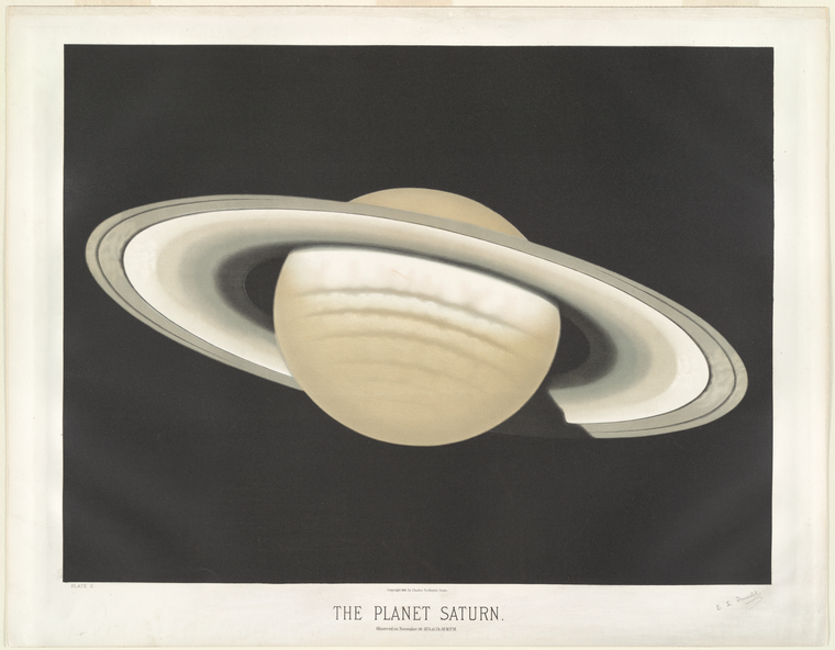 The planet Saturn. Observed on November 30, 1874, at 5h. 30m. P.M.
