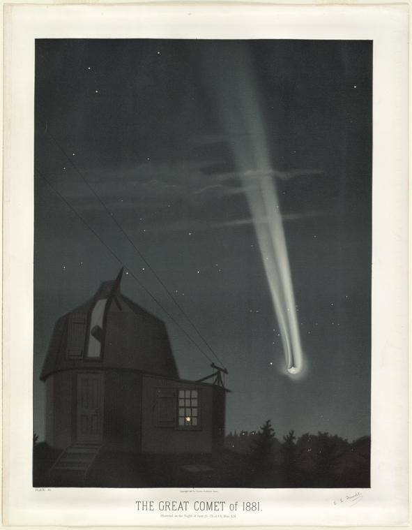 The great comet of 1881. Observed on the night of June 25-26 at 1h. 30m. A.M.