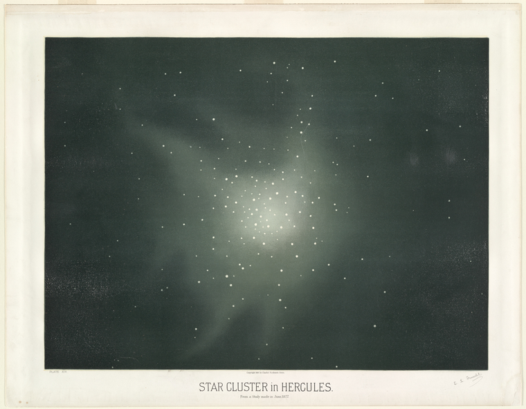 Star clusters in Hurcules. From a study made in June, 1877.