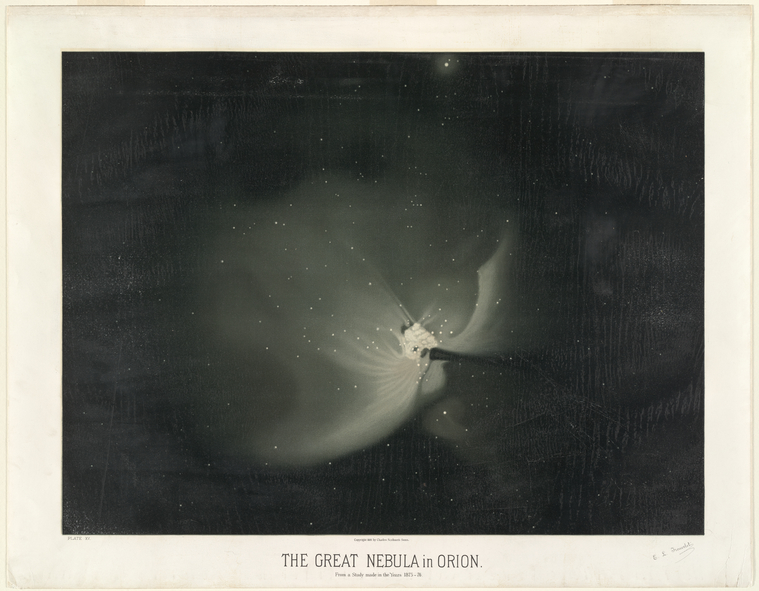 The great nebula in Orion. From a study made in the years 1875-76.