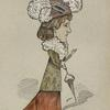 Caricature of Lillie Langtry.