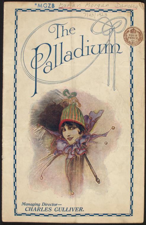 Marion Morgan Dancers program for The Palladium.